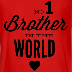 no1 brother of the world Shirts met lange mouwen - Teenager Premium shirt met lange mouwen