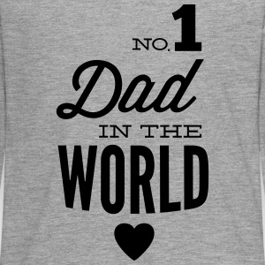 no1 dad of the world Langarmshirts - Teenager Premium Langarmshirt