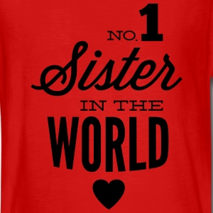 no1 sister of the world Langarmshirts - Teenager Premium Langarmshirt