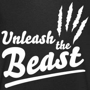 Unleash the beast T-shirts - Mannen T-shirt met V-hals