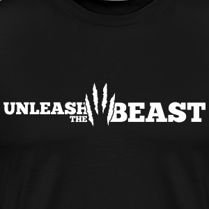Unleash the Beast Bodybuilding Kratzspuren T-shirts - Mannen Premium T-shirt