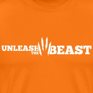 Unleash the Beast Bodybuilding Kratzspuren T-shirts - Premium-T-shirt herr