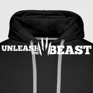 Unleash the Beast Bodybuilding Kratzspuren Sweat-shirts - Sweat-shirt à capuche Premium pour hommes