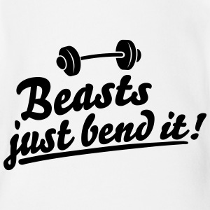 Beasts just bend it Shirts - Organic Short-sleeved Baby Bodysuit