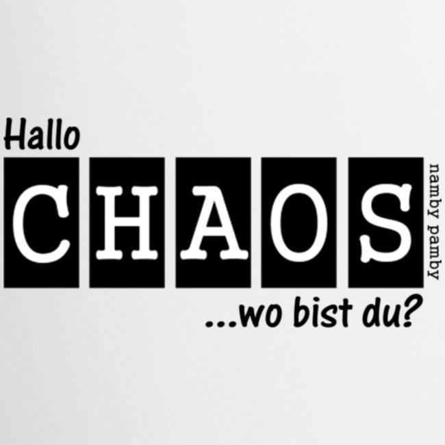 Chaos-Tasse - weiß