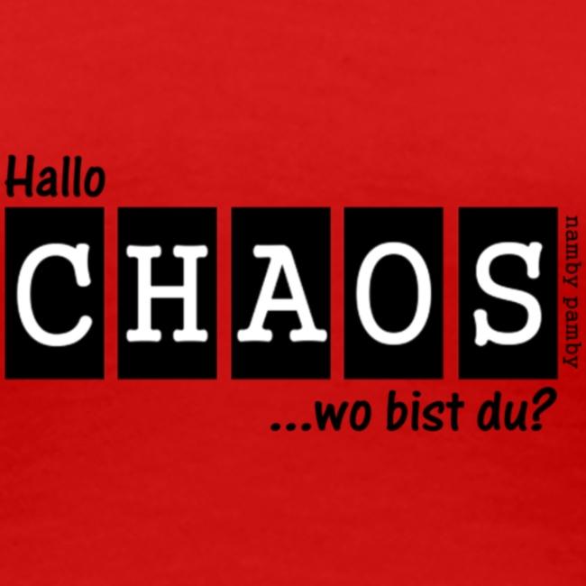 Chaos-Shirt Damen - rot