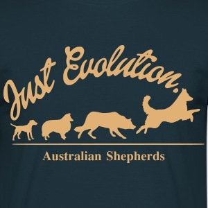 Just Evolution - Australian Shepherds - Männer T-Shirt