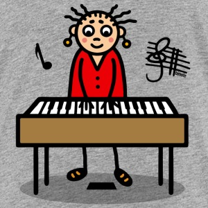Frau am Keyboard T-Shirts - Teenager Premium T-Shirt