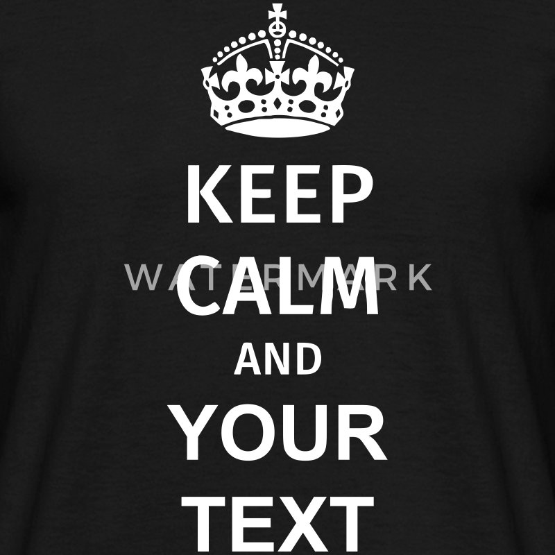 Keep Calm T-skjorter - T-skjorte for menn
