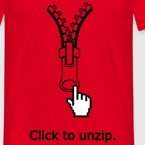 Click to unzip - T-shirt Homme