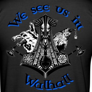We see us in Walhall T-Shirts - Männer Slim Fit T-Shirt