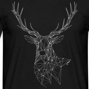 Deer with magnificent antlers of fine lines T-Shirts - Men's T-Shirt