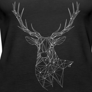 Deer with magnificent antlers of fine lines Tops - Women's Premium Tank Top