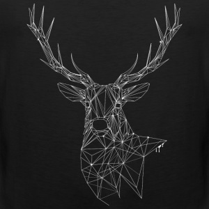 Deer with magnificent antlers of fine lines Tank Tops - Men's Premium Tank Top