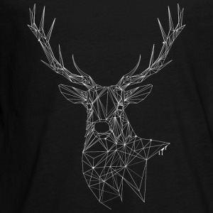 Deer with magnificent antlers of fine lines Long Sleeve Shirts - Teenagers' Premium Longsleeve Shirt