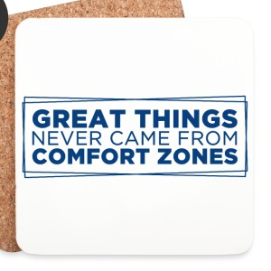 Vit Great things never came from comfort zones Muggar & tillbehör - Underlägg (4-pack)