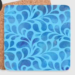 White modern waves Mugs & Drinkware - Coasters (set of 4)