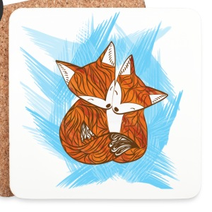 White fox love Mugs & Drinkware - Coasters (set of 4)