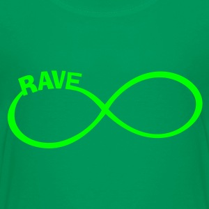 endless RAVE infinity Dance + Musik Party Outfit T-Shirts - Teenager Premium T-Shirt