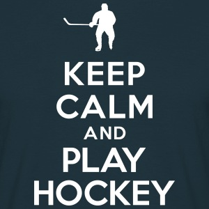 Keep calm play hockey Tee shirts - T-shirt Homme