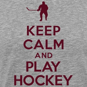 Keep calm play hockey Tee shirts - T-shirt Premium Homme