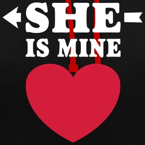 She is Mine I love you my Girlfriend Freundin Girl Pullover & Hoodies - Kontrast-Hoodie