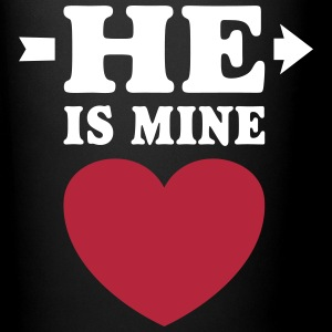 He is mine I love you my Boyfriend Man Husband Boy Mugs & Drinkware - Full Colour Mug