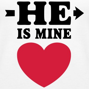 He is mine I love you my Boyfriend Ik hou van jou Tops - Vrouwen Premium tank top