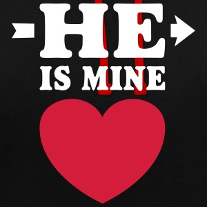 He is Mine I love you my Boyfriend Freund Boy him Pullover & Hoodies - Kontrast-Hoodie
