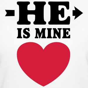 He is mine I love you my Boyfriend Ik hou van jou T-shirts - Organic damer