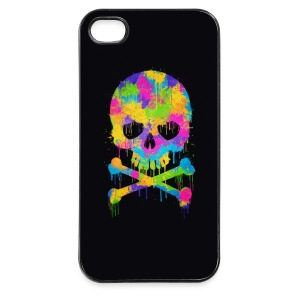 Trendy & Cool Abstract Graffiti Skull - Phone Case Mobil- & surfplattefodral - Hårt iPhone 4/4s-skal