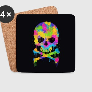 Trendy & Cool Abstract Graffiti Skull - Phone Case Kopper & tilbehør - Brikker (sett med 4)