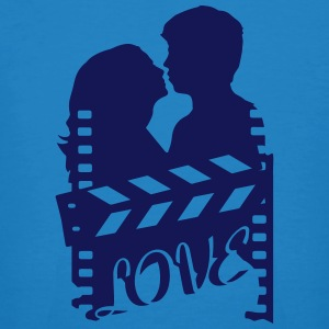 A love story with clapperboard and a loving couple T-Shirts - Men's Organic T-shirt