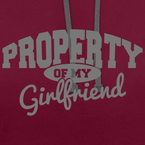 PROPERTY OF MY GIRLFRIEND Hoodies & Sweatshirts - Contrast Colour Hoodie