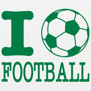 i love football with ball Vesker & ryggsekker - Bio-stoffveske