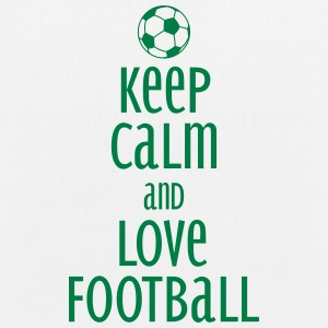 keep calm and love football Väskor & ryggsäckar - Ekologisk tygväska