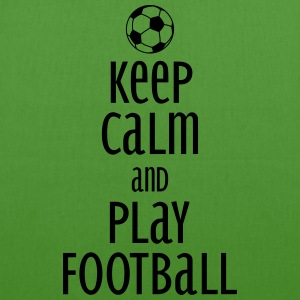 keep calm and play football Bags & Backpacks - EarthPositive Tote Bag