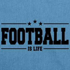 football is life 1 Bags & Backpacks - Shoulder Bag made from recycled material