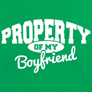 PROPERTY OF MY BOYFRIEND T-Shirts - Women's Ringer T-Shirt