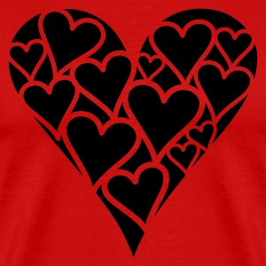 Valentine Heart  - Men's Premium T-Shirt