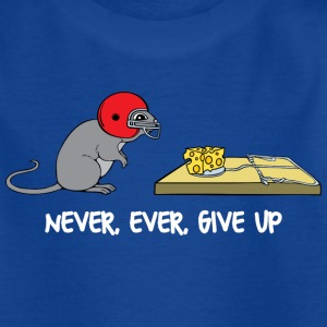 Never ever give up (dark) Shirts - Kids' T-Shirt