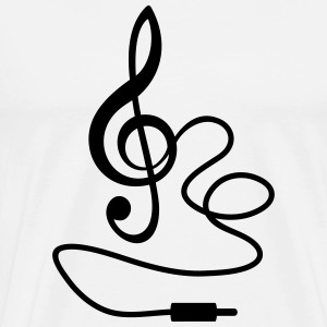 Instant Music Treble Clef de Sol Gifts Ideas MUSIC - Men's Premium T-Shirt
