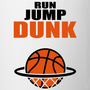 Run Jump Dunk BASKETBALL Dunking Icon - Mug
