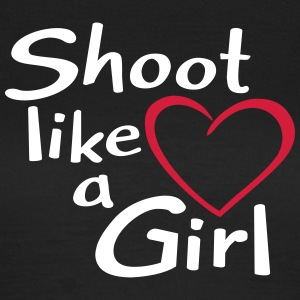 Bogenschießen Archery Shoot like a Girl T-Shirts - Frauen T-Shirt