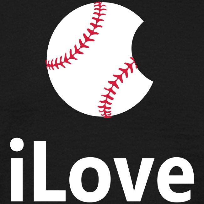 """Baseball Logo Shirt  """"iLove Baseball"""""""