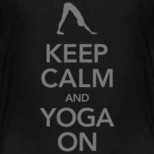 Keep Calm And Yoga On T-shirts - Premium-T-shirt barn