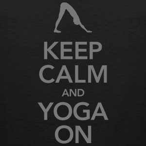 Keep Calm And Yoga On Tank topy - Tank top męski Premium