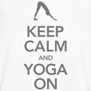 Keep Calm And Yoga On Magliette - Maglietta da uomo con scollo a V