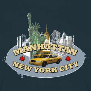 Männer T-Shirt NYC New York City Manhattan - Männer T-Shirt