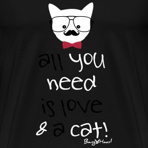 All you need is Love & a Cat - 2015  BangHaas - Men's Premium T-Shirt